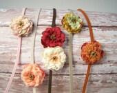 Baby Flower Headband - Baby Headband Set - Baby Headband - Flower Headband - Newborn Headband - Mini Flower Headband - You Pick 3