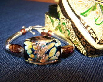 Lampwork & Sterling Bracelet