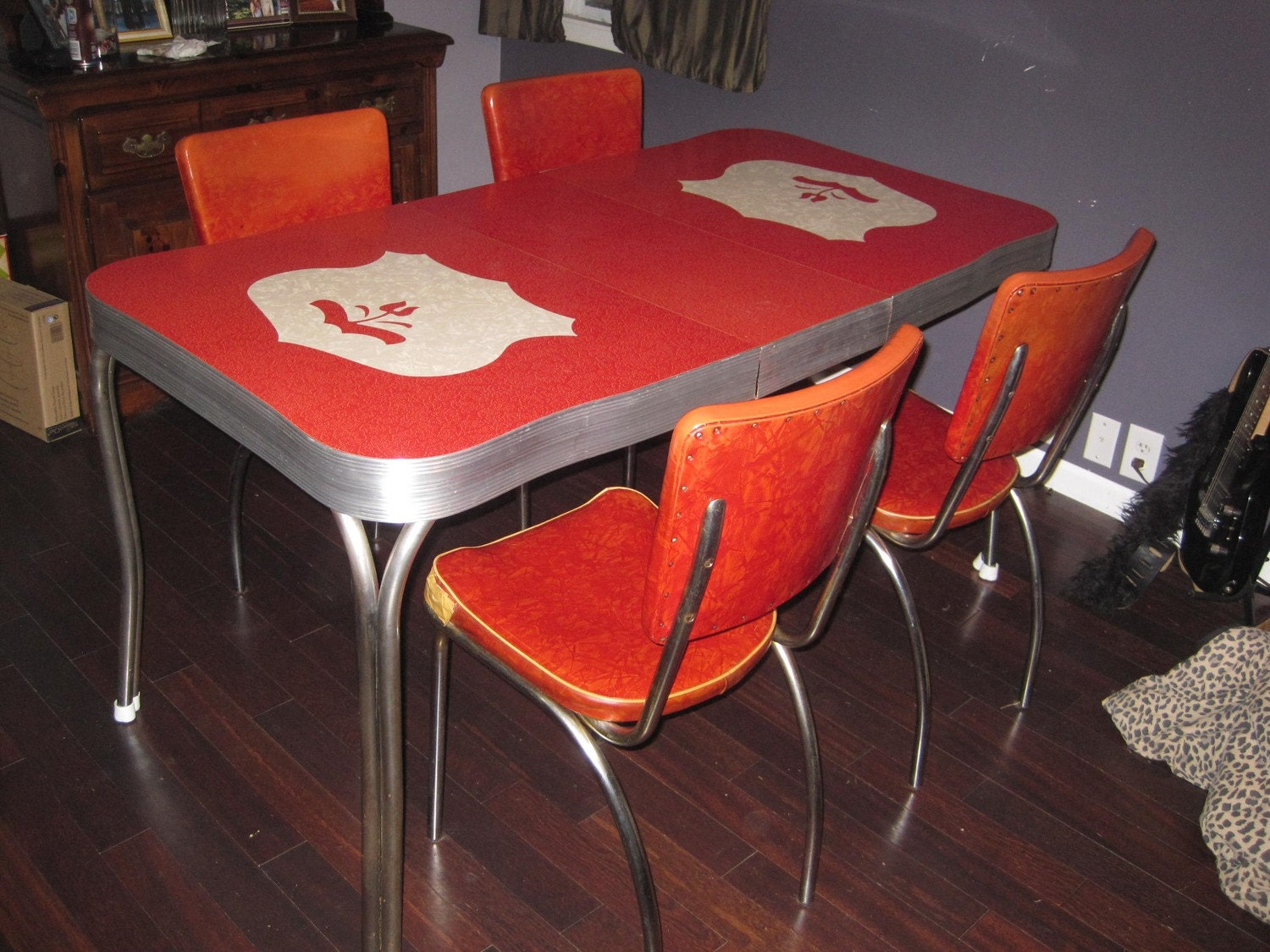 Price reduced again 1950s formica table - Formica top kitchen tables ...