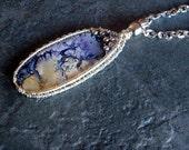 Utah Opal Wire Bezeled Pendant