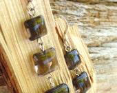Smokey Quartz Gemstone Earrings. with Sterling Silver. Ozreale