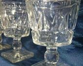 Park Lane Water Goblets - Clear - Vintage - Set of FOUR (4)