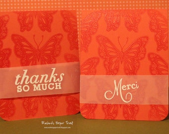 Thank  You and Merci Card Set (Set of 2)