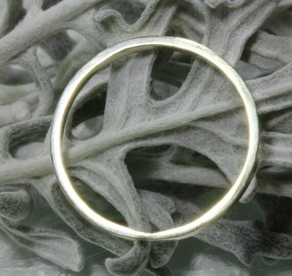 14K Green Gold Stacking Ring, Wedding Band, Gold Band - Made To Order