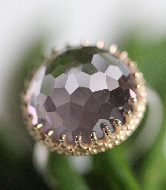 Purple Princess - Pink Amethyst In 14K Gold & Silver - Last One