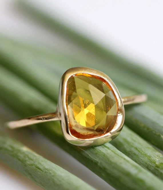 Imperial Sapphire In 14K Yellow Gold Ring