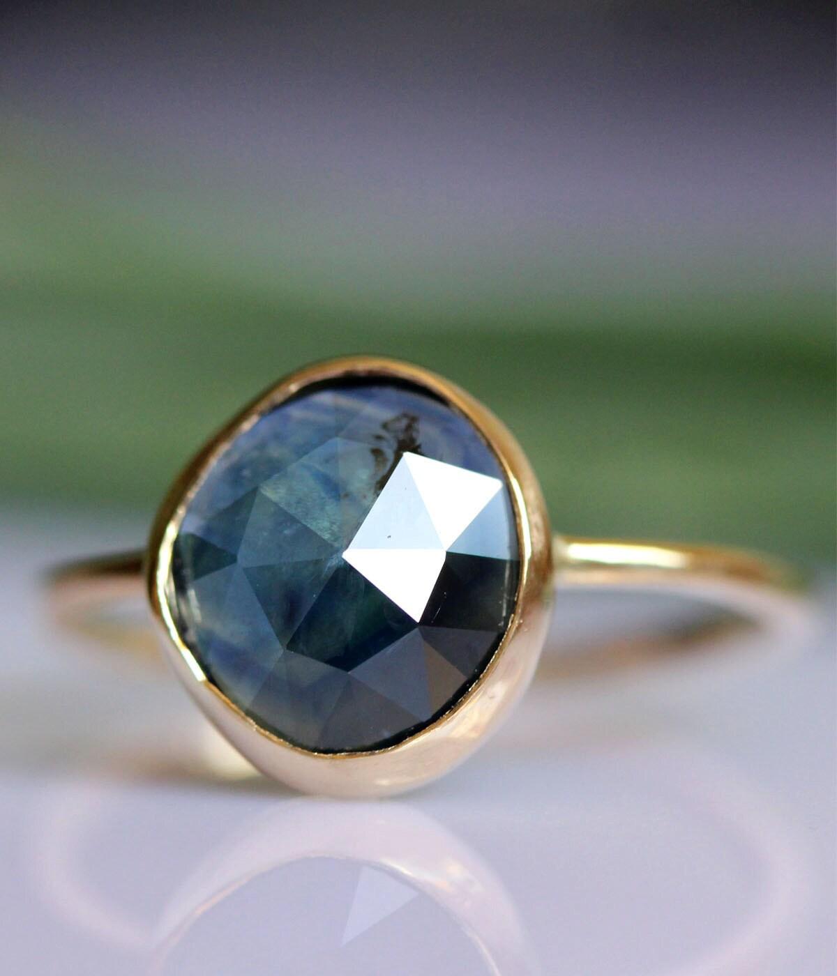 Rose Cut Blue Sapphire...