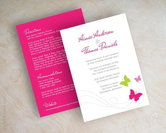 Wedding Butterfly Invitations: Wedding Invitation Butterflies Butterfly Wedding By