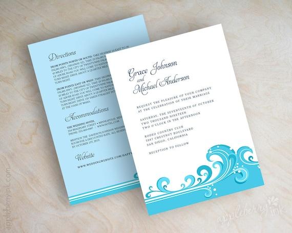 Destination Wedding Invitations Beach Wedding Invitations