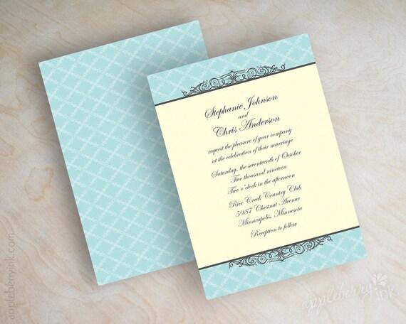 Wedding Invitation Formal: Formal Wedding Invitations Formal Invitation By Appleberryink