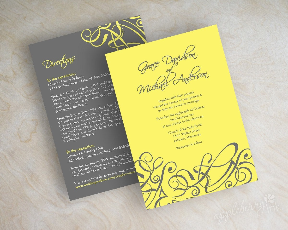 Modern Wedding Invitation: Modern Wedding Invitations Contemporary Modern By