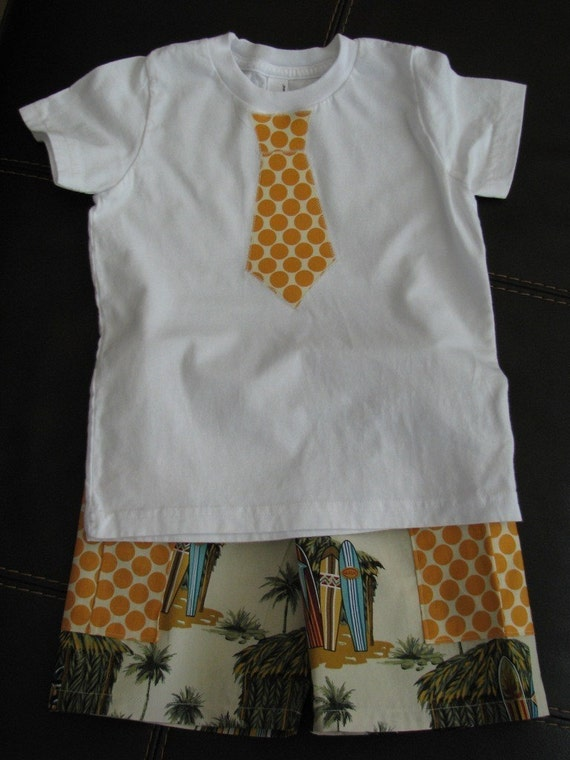ONE LEFT - Huts and Surfboards Short Outfit - sizes newborn - 5T