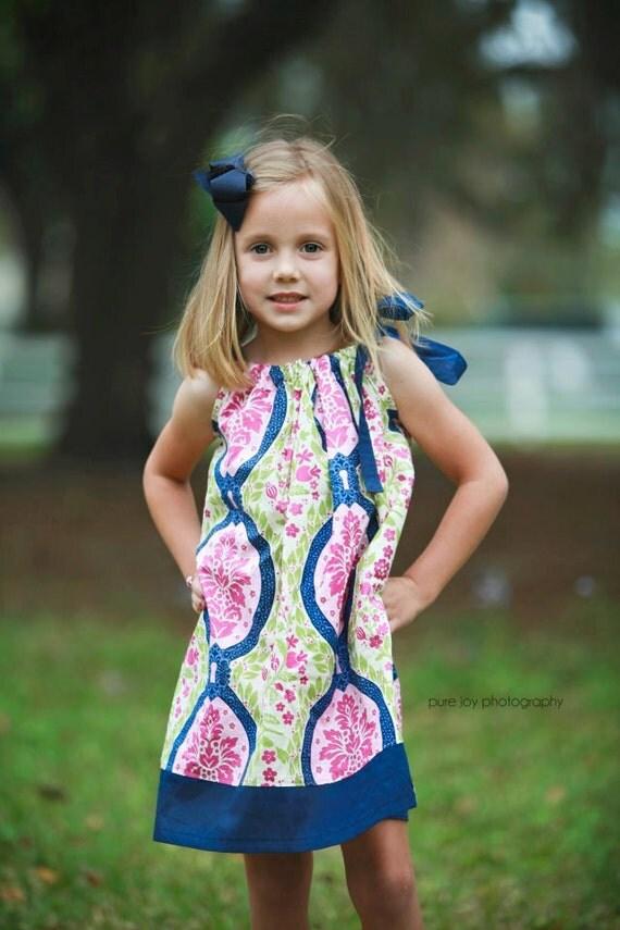 LAST ONE - Any Size - Secret Garden Pillowcase Dress - sizes 12 months - Girls 8