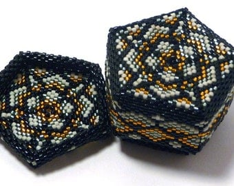 Pentagon Star  Beaded Box - Made to Order