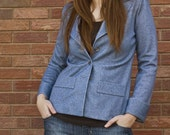 SALE  heathered blue blazer