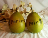PERFECT PAIR Cake Toppers - a set of two rustic pears