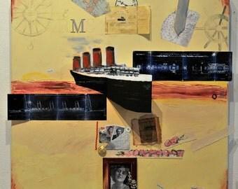 Titanic Ship of Dreams 3 D fine art 24 x 24 inches
