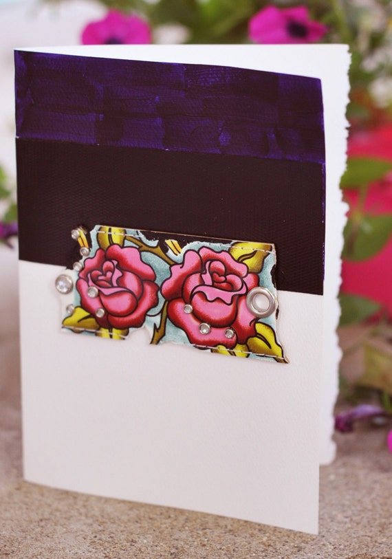 Tattoo You in Roses  Fine Art Greeting Card 5 by 7 inches