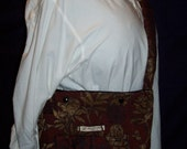 The Jeff Field Bag in Burgundy Tapestry with a black duck canvas lining
