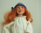 Handmade Art Doll - OOAK Paperclay Doll - Pin Cushion Antique OOAK - Collectible Dolls and Miniatures
