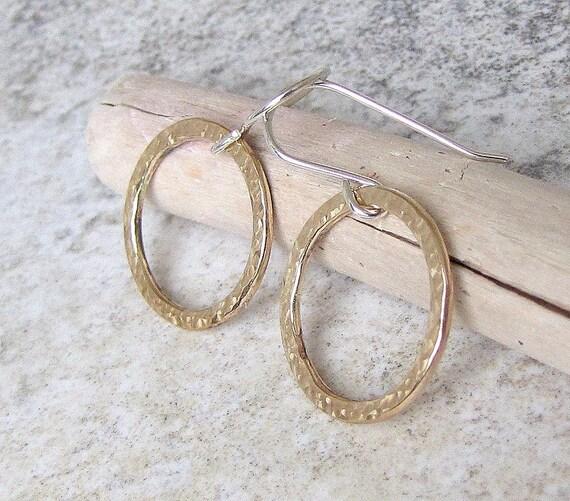 Hammered Gold Earrings Gold Hoop Earrings Gold Hoops Gold Circle Earrings