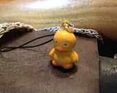 Cute Duck Bell Charm for Cell Phone, Zipper or Keychain