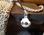Cute Panda Bell Charm for Cell Phone, Zipper or Keychain