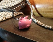 Cute Pink Whale or Dolphin Bell Charm for Cell Phone, Zipper or Keychain