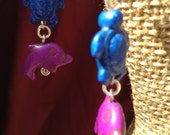 Aquatic Themed Dangle Earrings