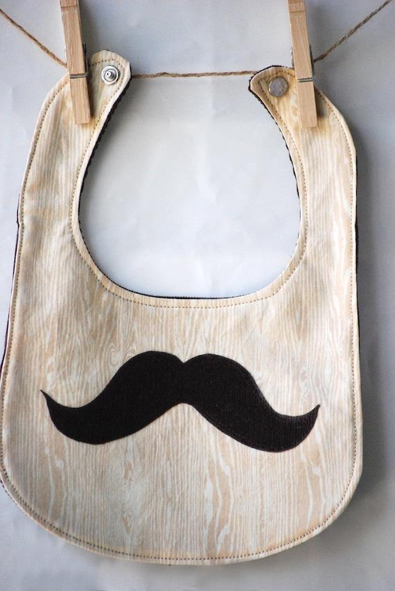 Little Mr. Mustache Bib