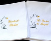 Embroidered Dish Towel - Sunflower - Add Name to Personalize