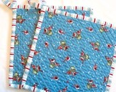 Hand Chenilled Potholders - Cardinals - Set of 2