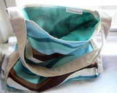 Brown and Turquoise Purse: Waves