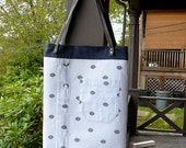 Upcycled Nautical Blouse Tote Bag