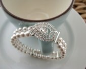 The Grace Kelly - Vintage-Inspired Pearl Bridal Bracelet
