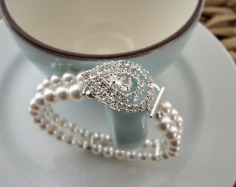 The Grace Kelly Bracelet - Vintage-Inspired Pearl Bridal Bracelet