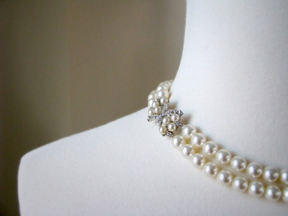 READY TO SHIP - Vintage Elegance - Pearl Bridal Necklace