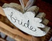 Lovebird Vintage Wedding Sign Bride Groom Wood Birds Decoration