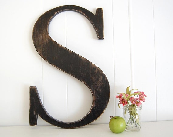 large letters for wall large wall letter s cottage rustic farmhouse 22 16001