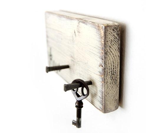Shabby Chic key hook organizer cottage decor upcycled recycled IN STOCK