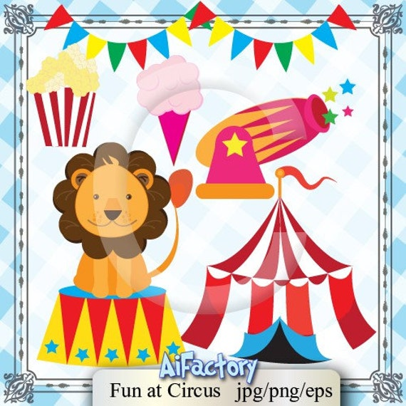 Items similar to Circus Cliparts and graphics -Digital PNG ...