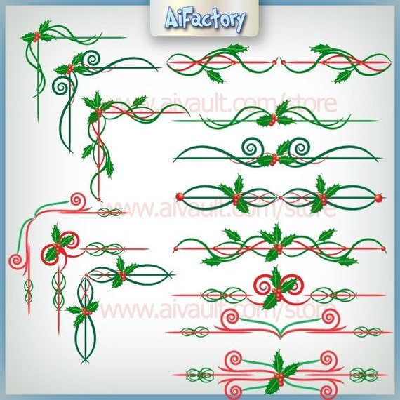 Christmas Clip Art Holy borders and corners Cliparts Graphics - CA0121122010