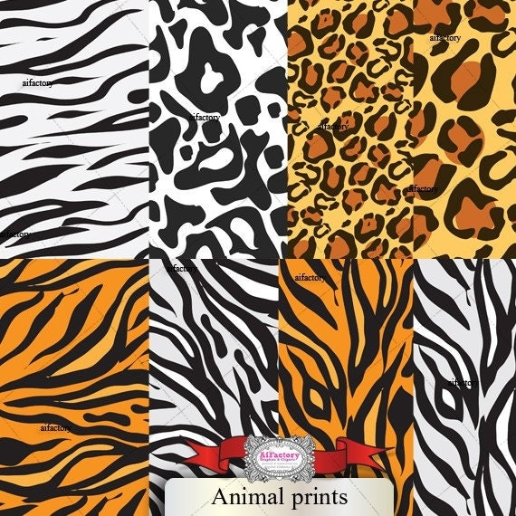 Animal prints Digital Papers- Digital Papers Pack-Commercial and Personal Use