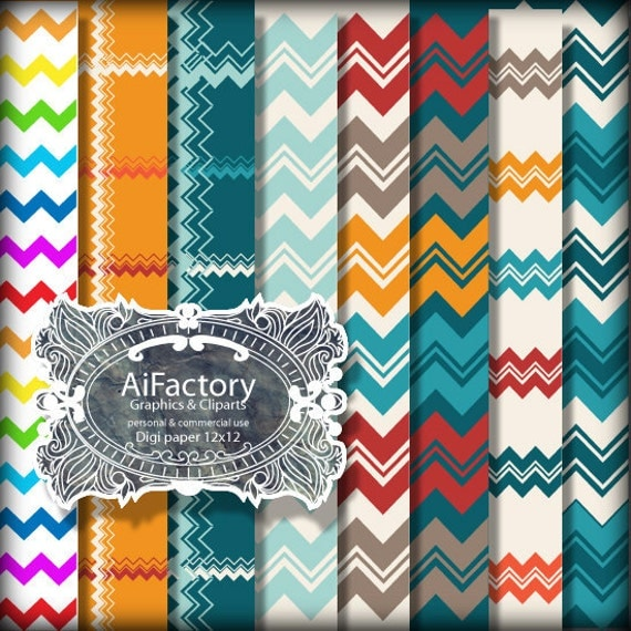 Chevron Stripes and lines patterns digital papers and backgrounds .