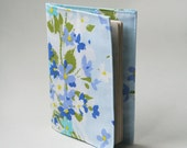 Passport Cover, Fabric Passport Cover, Vintage Baby Blue Floral, Travel, Handmade by Knotted Nest on Etsy