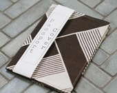 Passport Cover, Fabric Passport Cover, Brown Geometric Print, Travel Accessory, Handmade by Knotted Nest on Etsy