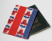 Passport Cover, Fabric Passport Cover, Retro Floral, Travel Accessory, Handmade by Knotted Nest on Etsy