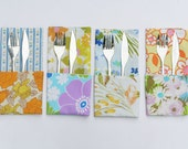 Fabric Napkin Set, Cloth Napkins, Reusable Napkin Set of 4, Handmade Housewares by Knotted Nest