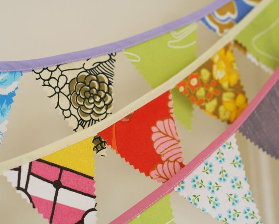Mini Fabric Bunting, Lessons in beating the blues