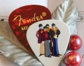 Beatles Guitar Pick Boutonniere Red, CHOOSE COLOR